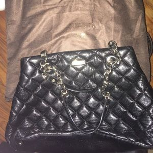 Kate Spade Mary Ann Black Quilted Purse